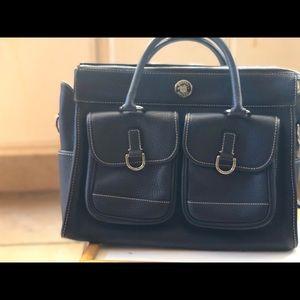 Beautiful pebble leather large handbag